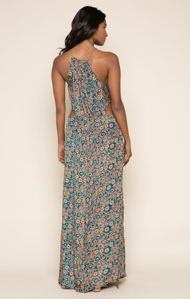 Bonfire Haze Side Slit Maxi Dress