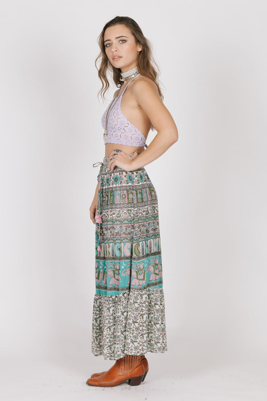 Far Lands Maxi Skirt