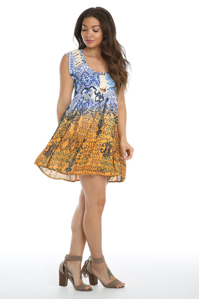 Until Sunrise Cap Sleeve Mini Dress