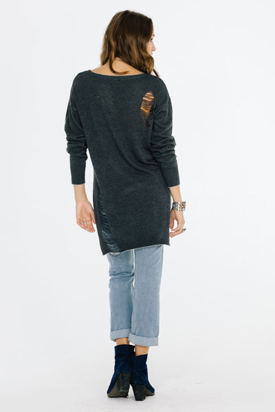 LUCIA HI-LOW SWEATER