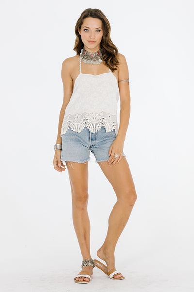 WHISPERED LACE HALTER