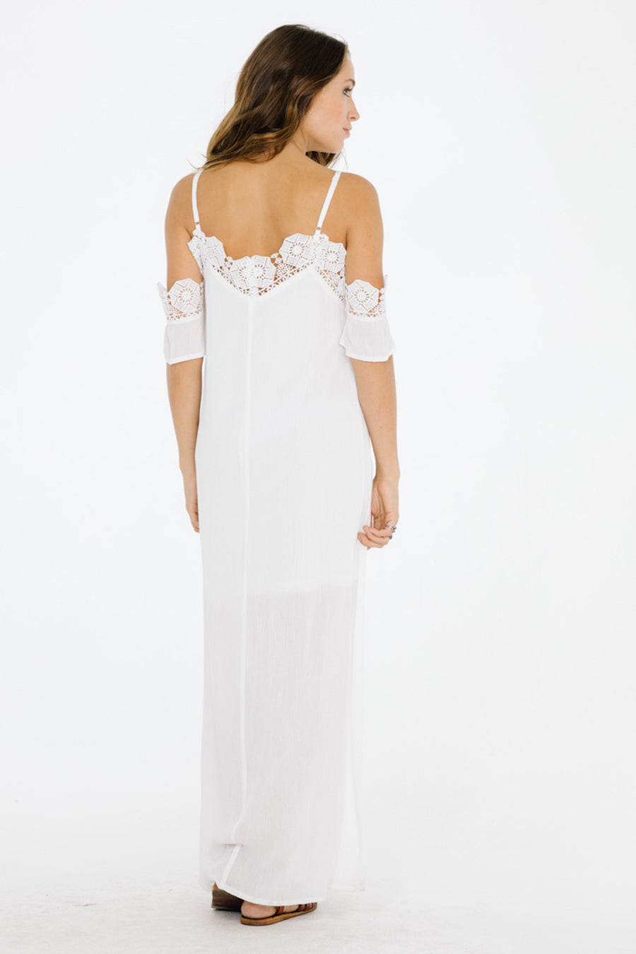 Lotus Off Shoulder Maxi Dress