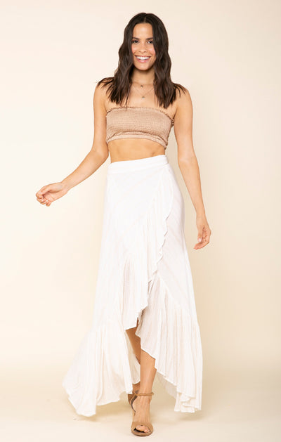 Golden Rules Wrap Skirt