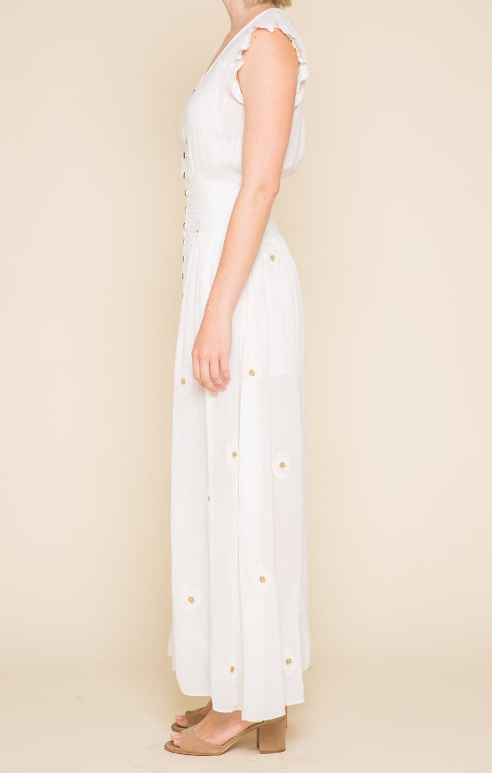 Reina Button Down Maxi Dress