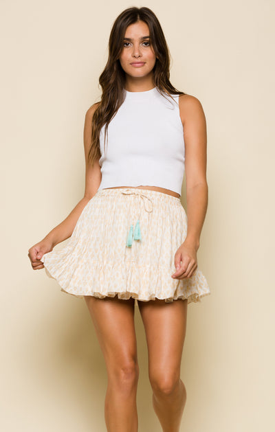 Gold Gypsy Ruffle Skirt