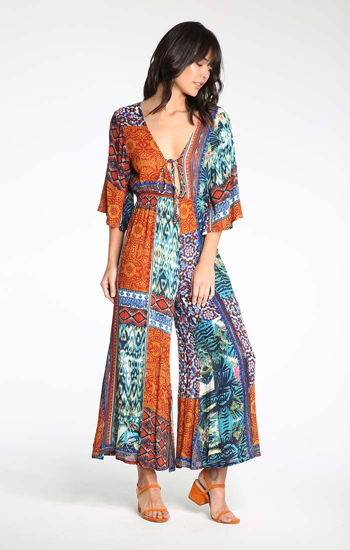 WESTERN HAVEN PLUNGE JUMPSUIT