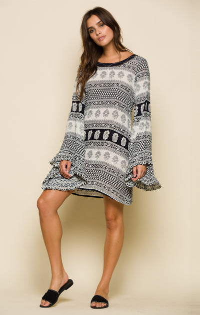 JESSICA BELL SLEEVE SHORT DRESS