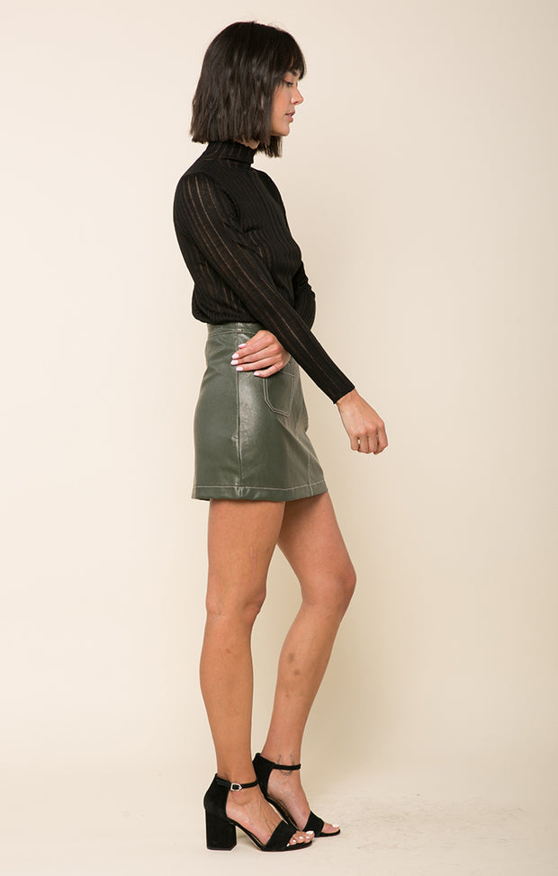Callie Faux Leather Skort