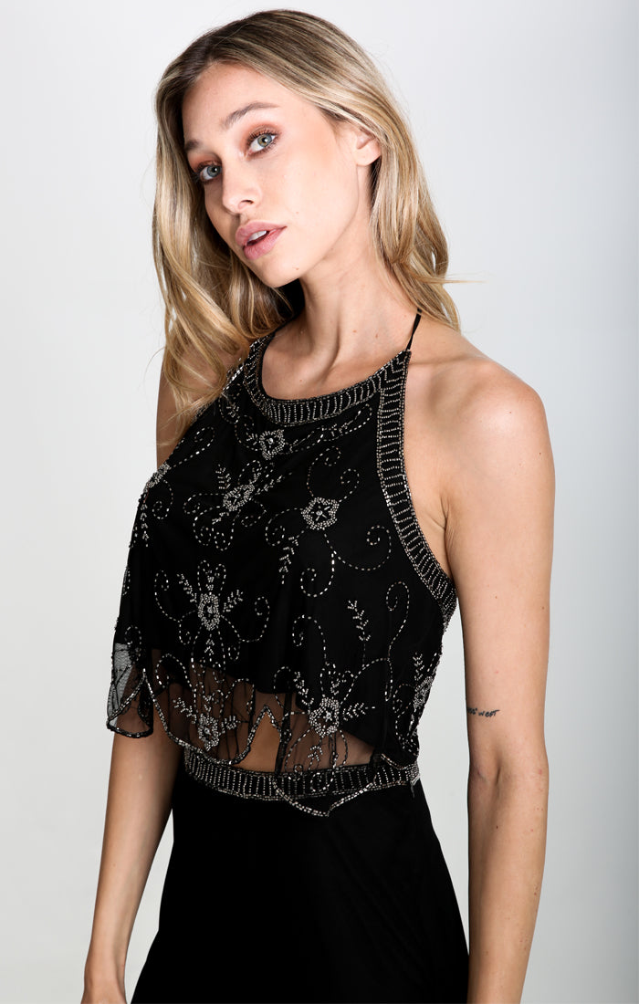 Blair Beaded Halter Top