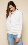 Emily Fuzzy Turtleneck Sweater