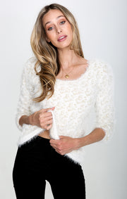 Cassidy Fuzzy Pullover Sweater