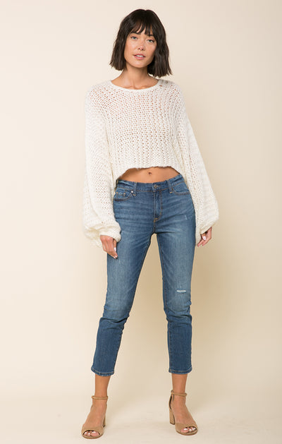Candace Crochet Knit Sweater