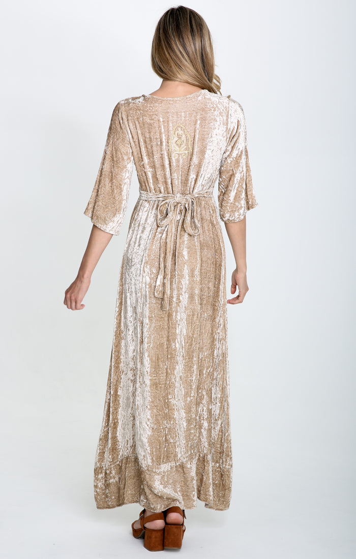 Romantic Visions Plunge Maxi Dress