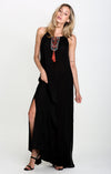 Darsha Drawstring-Neck Maxi Dress