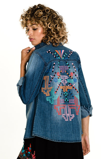 Desert Tribe Denim Button Down