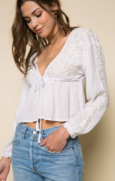 Sorrento Tassel Blouse