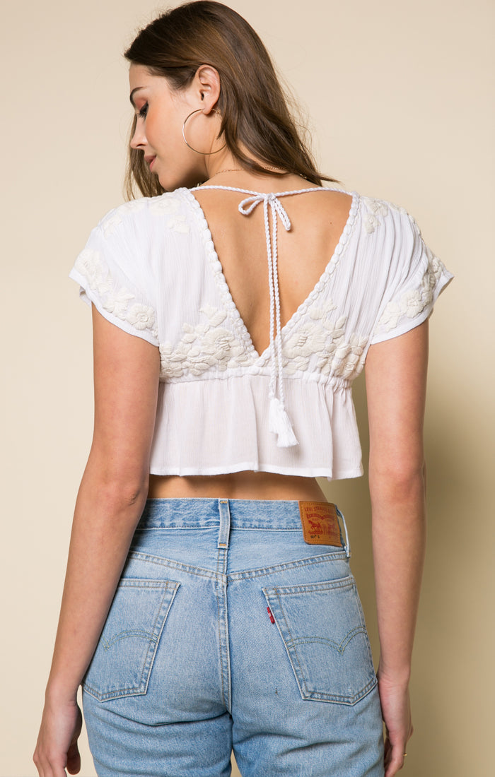 Sorrento Peplum Crop Top