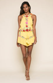Blooming Lotus High Neck Romper