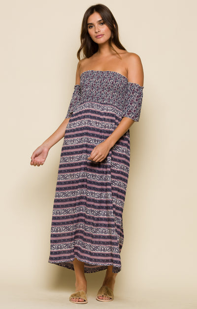 Sydney Off Shoulder Midi Dress