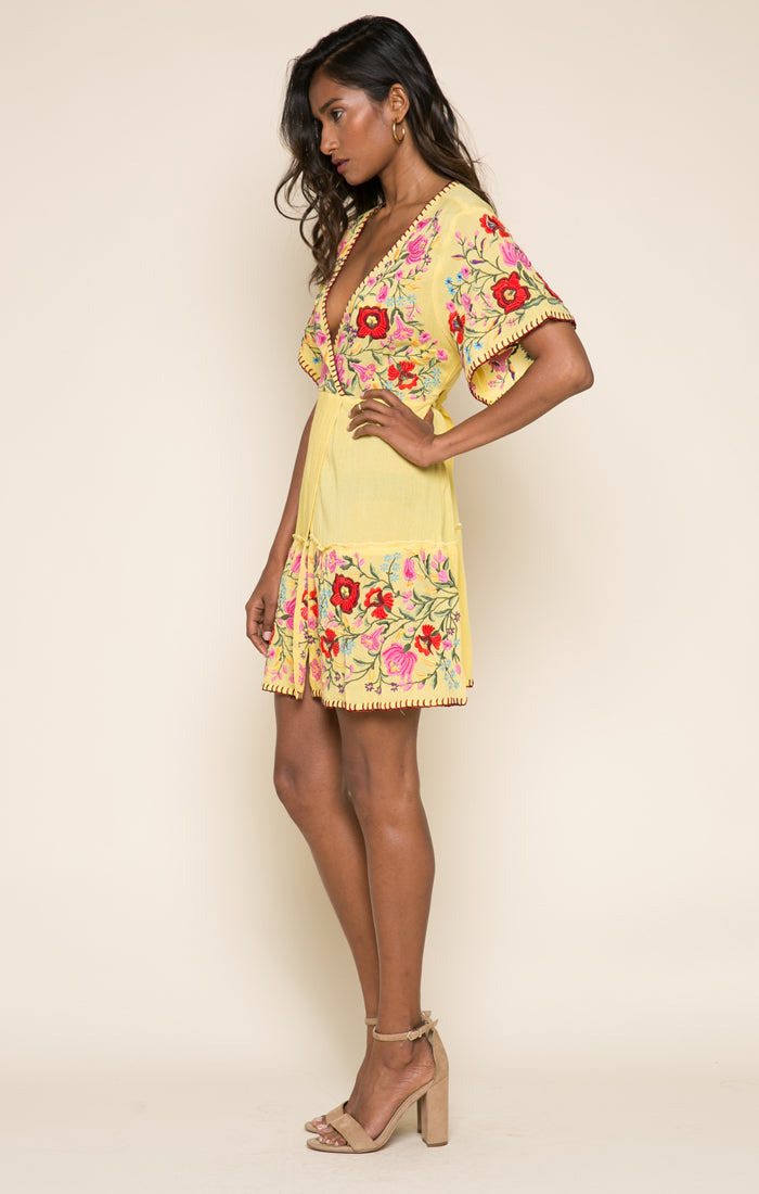 Blooming Lotus Short Wrap Dress
