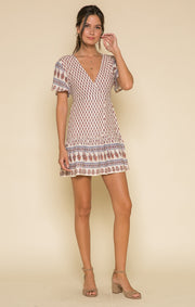 AVAH SHORT WRAP DRESS