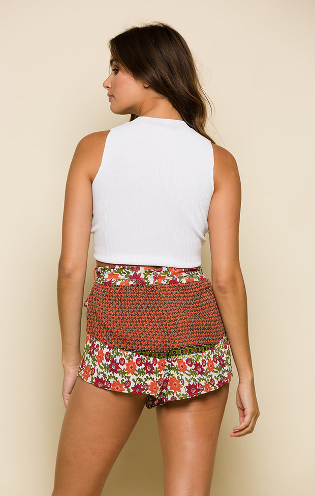 Enchanted Forest Belted Shorts