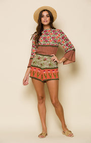 Enchanted Forest Open-Back Romper
