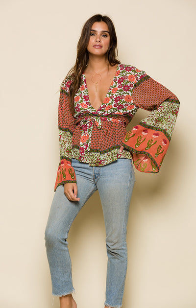 ENCHANTED FOREST WRAP TOP