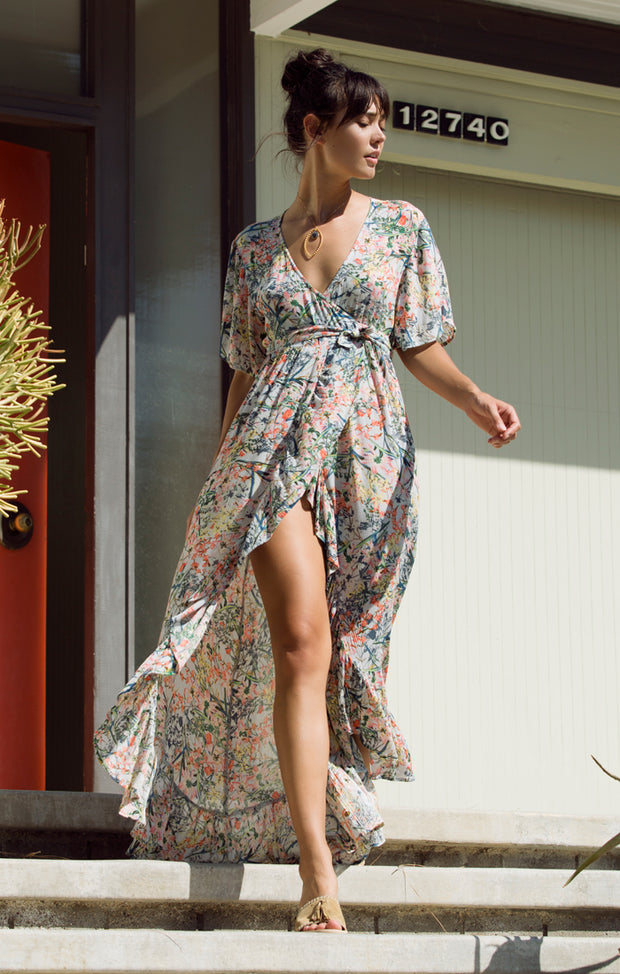 Monique Wrap Maxi Dress