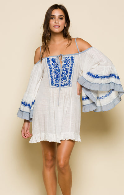 Eva Cold Shoulder Mini Dress