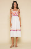 First Bloom Tie Strap Midi Dress