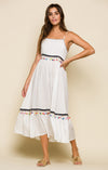 COCONUT COVE TIE STRAP MIDI DRESS