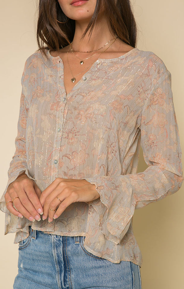 Whispered Dreams Button Down Blouse