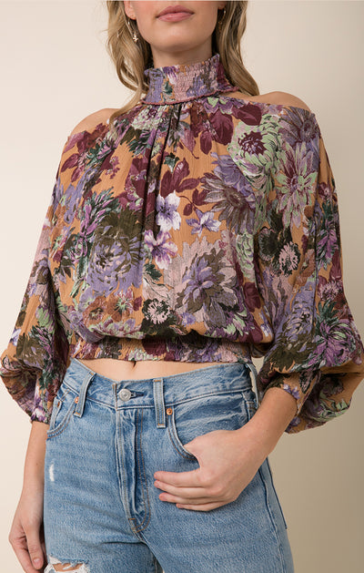 Dear Dahlia Cold Shoulder Blouse