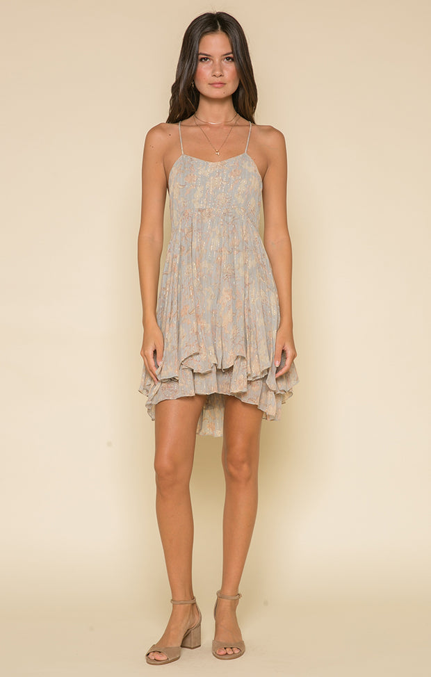 Whispered Dreams Cross Back Mini Dress