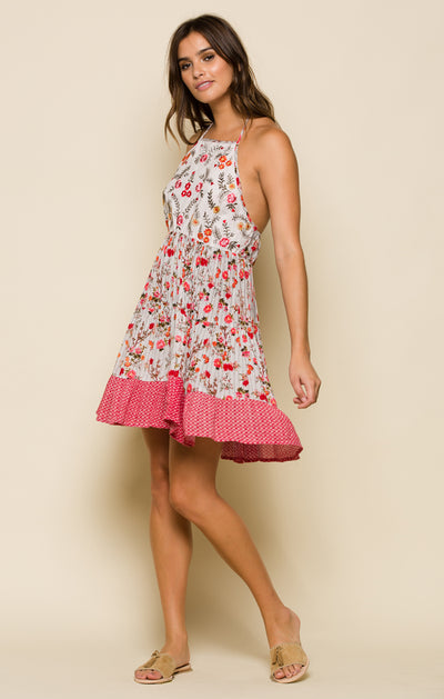 PRIMROSE HIGH NECK MINI DRESS