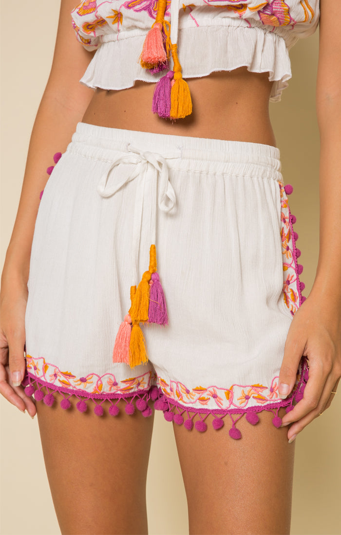 First Bloom Pom-Pom Shorts