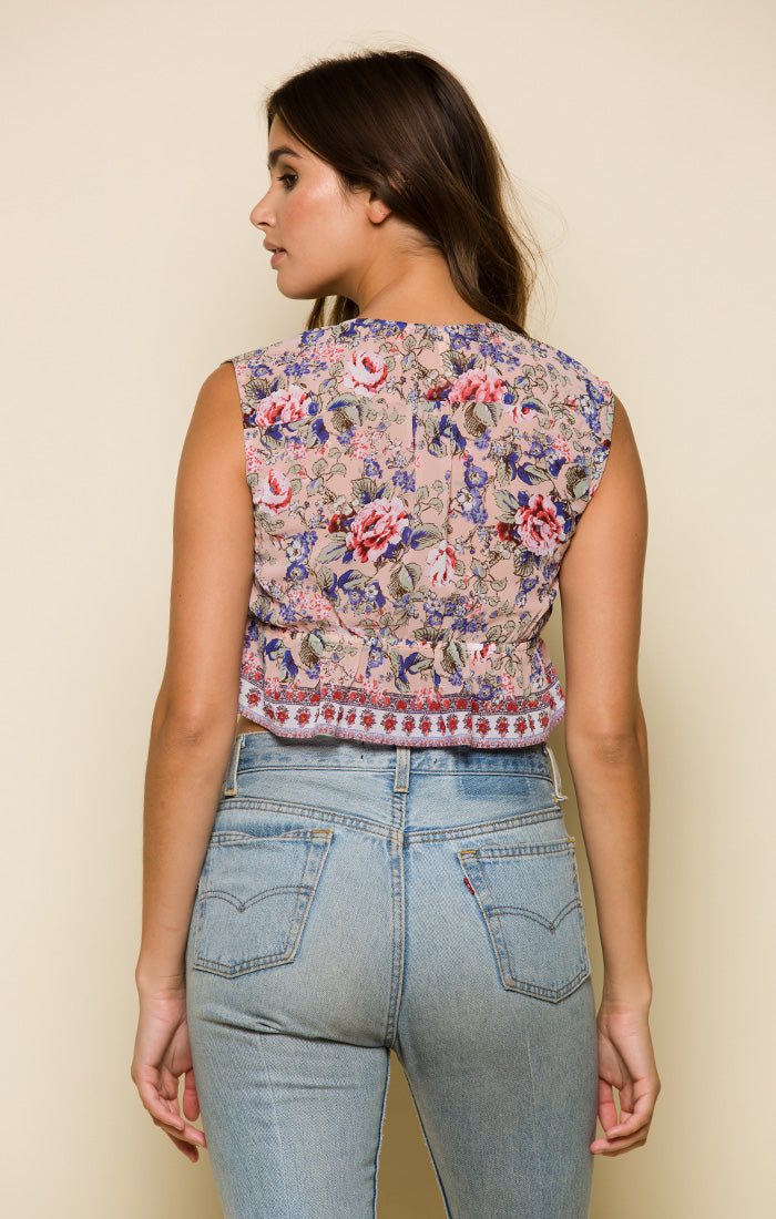 Victoria Sleeveless Crop Top