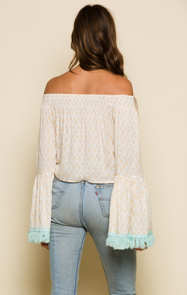 Gold Gypsy Off Shoulder Top