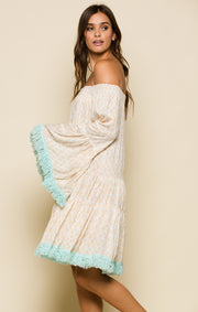 Gold Gypsy Tiered Short Dress