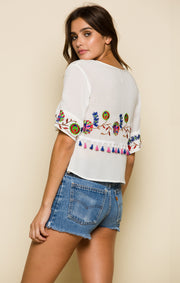 Wild Flower Ruffle Top