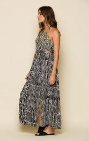 Before Dawn Keyhole Maxi Dress