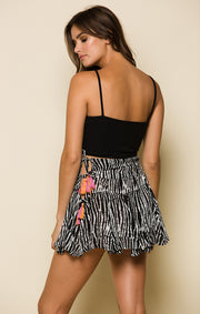 Before Dawn Tie Mini Skirt