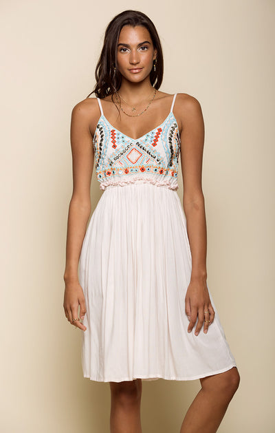 Baja Sunset Backless Midi Dress