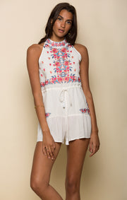 Mariah High Neck Romper