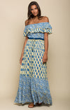 Sunlit Daze Off Shoulder Maxi Dress