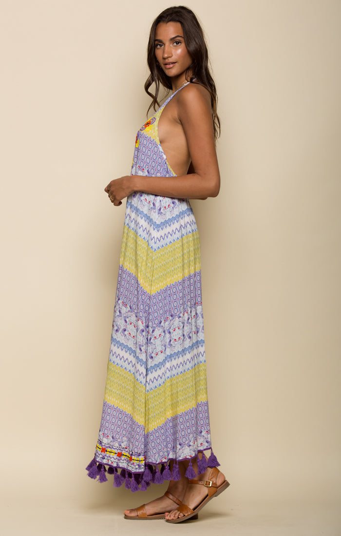 Tropicbird Halter Maxi Dress