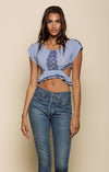 MARRAKESH OFF SHOULDER CROP TOP