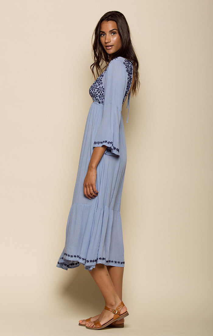 MARRAKESH OPEN BACK MIDI DRESS