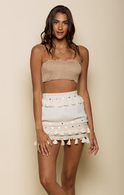Golden Bliss Mini Skirt